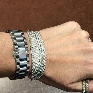 Multi Strand Sterling Silver Bracelet
